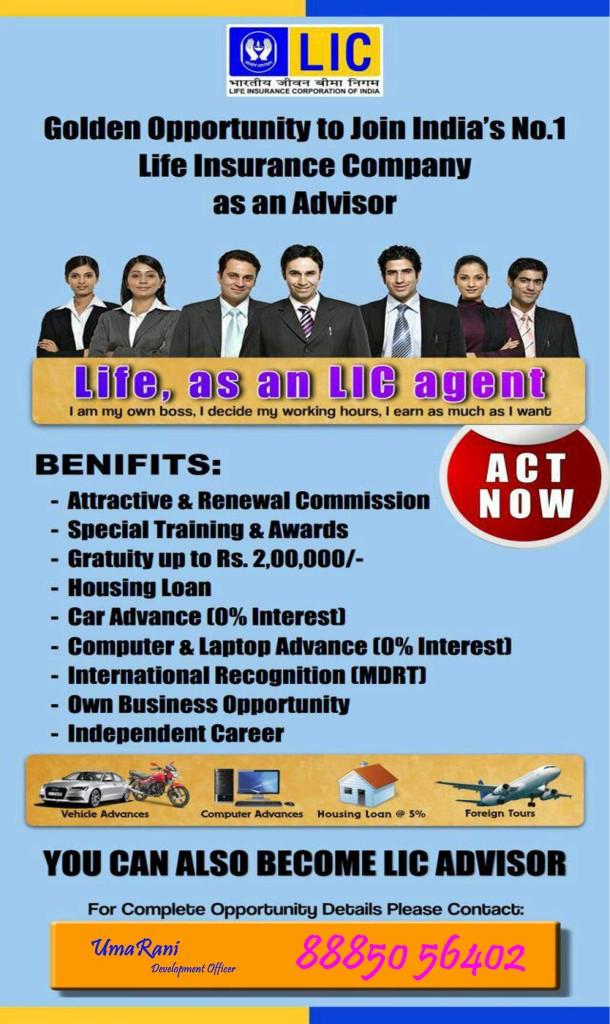 CAREER AS LIC AGENT